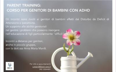 PARENT TRAINING: CORSO PER GENITORI DI BAMBINI CON ADHD
